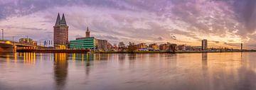 Skyline Roermond bij zonsondergang I van Teun Ruijters