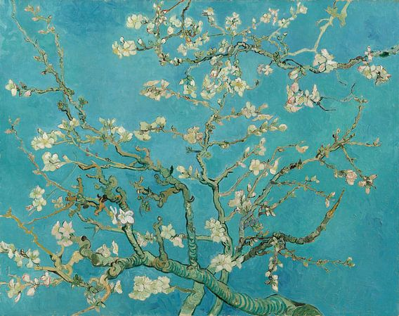 Amandelbloesem schilderij van Vincent van Gogh van Hollandse Meesters