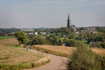 Panorama dorp Vijlen in Zuid - Limburg van John Kreukniet