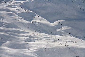 Franse witte alpen met stoeltjesliften van Danielle Kramer