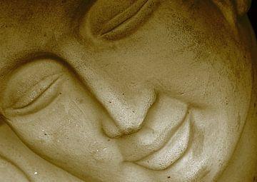 Buddha face2 van Roswitha Lorz