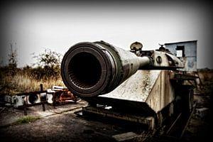 Panzer am ehemaligen Grenzübergang Westdeutschland - Deutsche Demokratische Republik Helmstedt