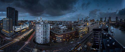 Blauw uurtje in Rotterdam