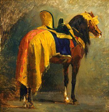 Paard opgetuigd - Isidore Pils, 1860 van Atelier Liesjes