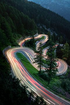 Maloja Pass Zwitserland van Achim Thomae
