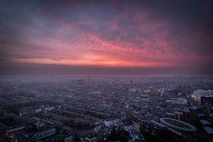 Aerial view, skyline en overzichtsfoto van Den Haag.