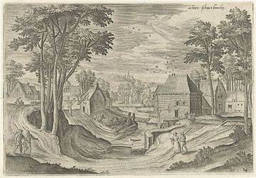Hans Collaert (I), Blick auf die Umgebung von Schaerbeek