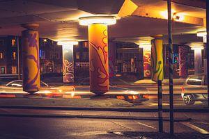Rond-point de Venlo la nuit sur Norman van Schijndel