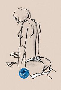 Blue Dot Nude nr.007 von