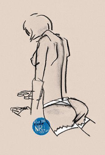 Blue Dot Nude nr.007 van Pieter Hogenbirk