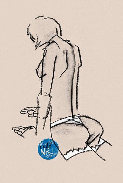Blue Dot Nude nr.007 von Pieter Hogenbirk