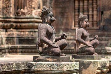 Temple guard Angkor van Rick van der Poorten