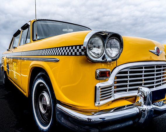 Amerikaanse Yellow Cab taxi uit New York