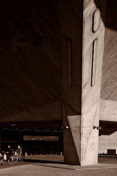 Zonlicht op beton van