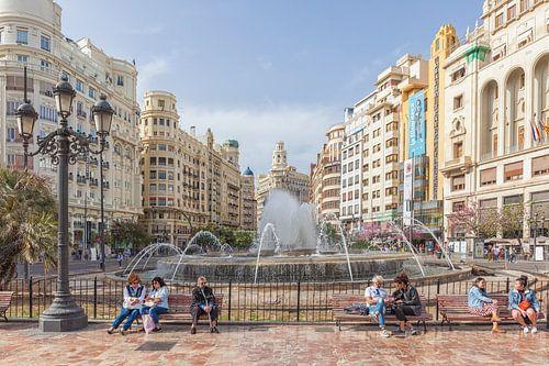 Valencia Plaza del Ayuntamiento van