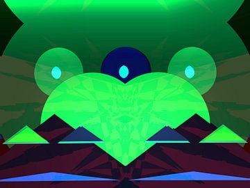 Peace Frog green van Judith Robben