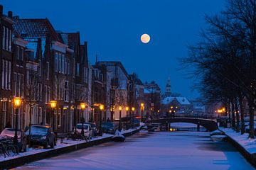 Oude Rijn Volle maan van