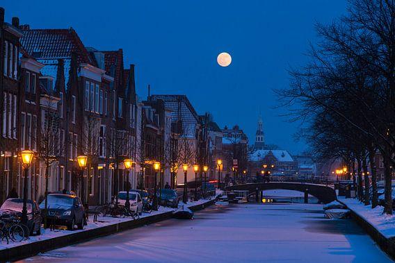 Oude Rijn Volle maan van Dennis van de Water