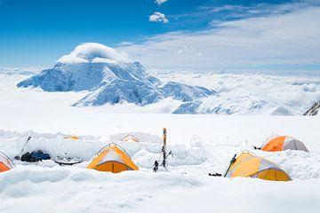 Höhenlager auf Denali, Alaska von Menno Boermans