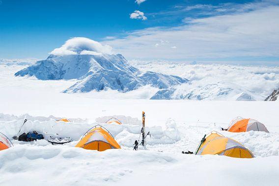 Höhenlager auf Denali, Alaska