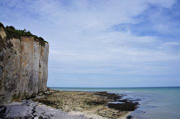 Kliffen an der kuste von Normandie von