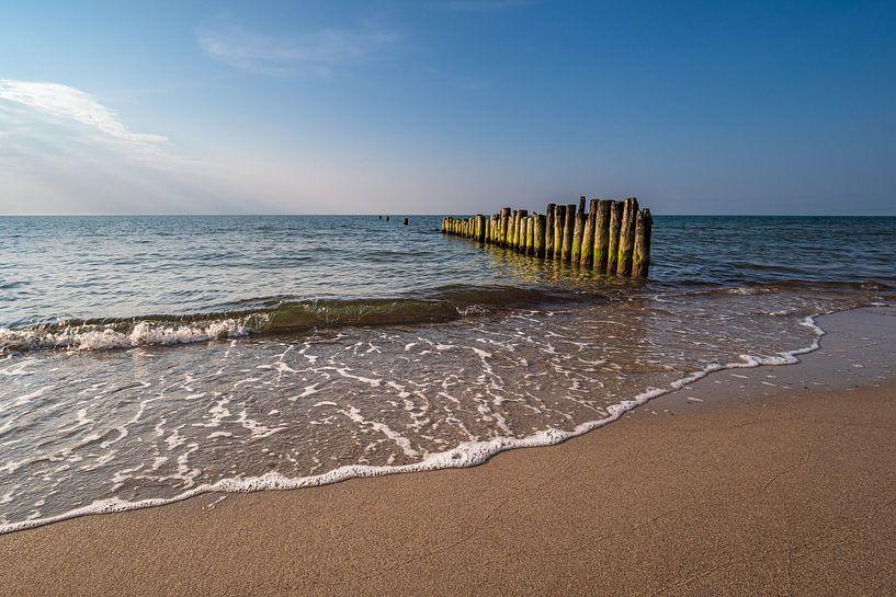 Buhnen an der Küste der Ostsee bei Graal Müritz. von Rico Ködder