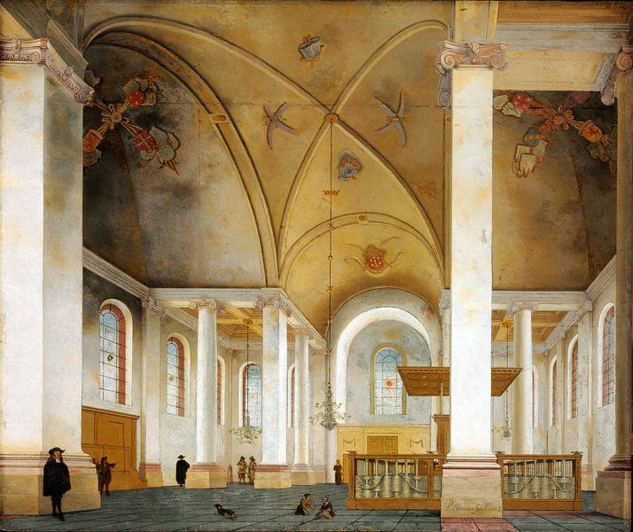 Haarlem, Inneres der neuen Kirche, Pieter Jansz. Saenredam - 1653 von Atelier Liesjes