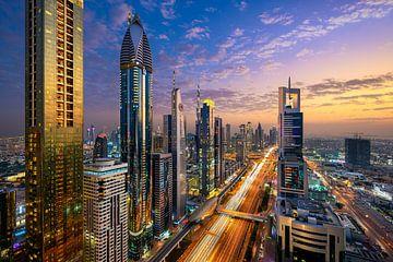 Coucher de soleil à Dubaï sur Michael Abid