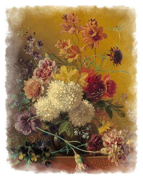Oude Meesters serie #2 - Stilleven met bloemen, Georgius Jacobus Johannes van Os van Anita Meis