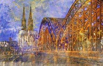 Abstrait de la cathédrale de Cologne sur Marion Tenbergen