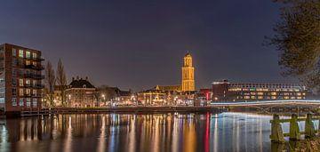 avondopname Zwolle van Wim Kanis