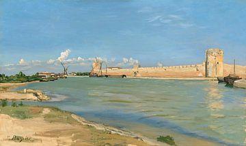 De Westelijke Wallen bij Aigues-Mortes, Frédéric Bazille - 1867