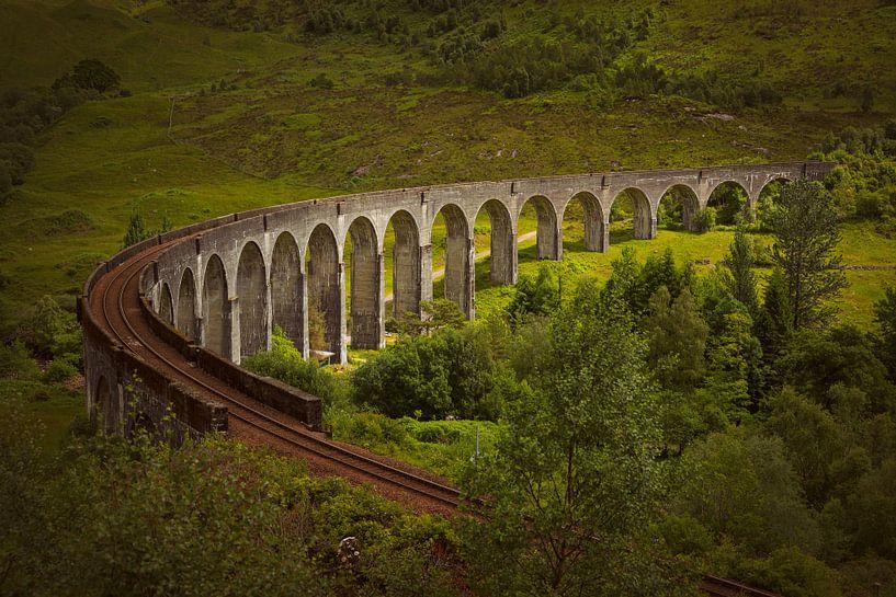 Zonlicht op Glenfinnanviaduct in Schotland van Arja Schrijver Fotografie