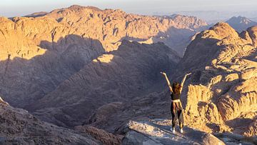 Vrijheid op Mount Sinai (Egypte) van Jessica Lokker