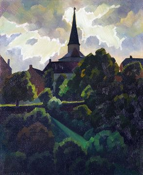 Manderscheid und Kirche, Nach dem Gewitter, ADOLF ERBSLÖH, 1932 von Atelier Liesjes