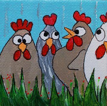 Vier kipjes van Angelique van 't Riet
