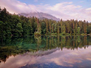 Morgendämmerung am Badersee von Max Schiefele