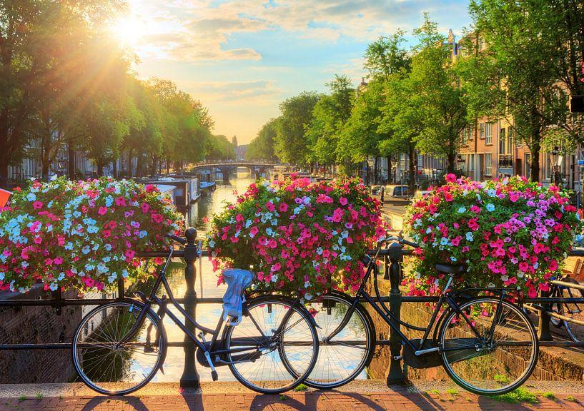 Amsterdam zonnige brug II van Dennis van de Water