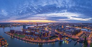 Panorama Rotterdam vanaf de Euromast van