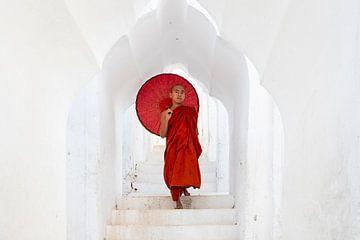 Monnik in een tempel van Antwan Janssen