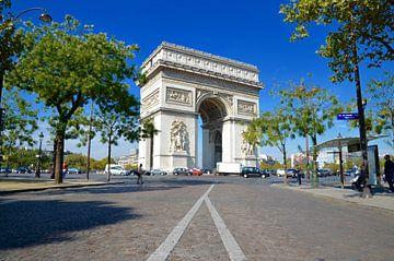 Arc De Triomphe - Parijs - Frankrijk (Color) van Maurits Simons