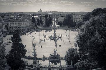 Piazza del Popolo - Rome van Jolanda van Straaten