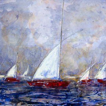 Weisse Segel von Christine Nöhmeier