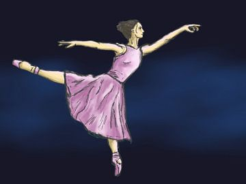 Ballerina in roze van Larissa Van Rijn