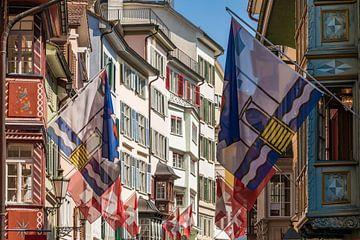 Augustinergasse in der Altstadt von Zürich von Werner Dieterich