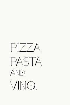 Pizza Pasta Vino von Walljar