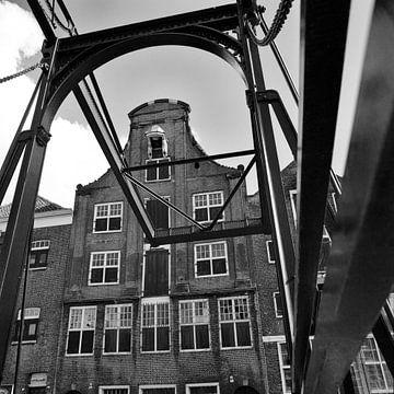 Le pont de Damiat Dordrecht sur Dordrecht van Vroeger