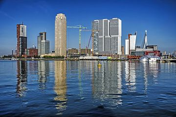 Rijnhaven en Wilhelminapier, Rotterdam van Frans Blok