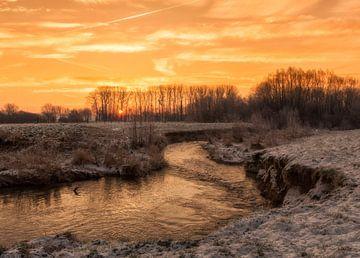 Zonsopkomst boven Partij in Zuid-Limburg van