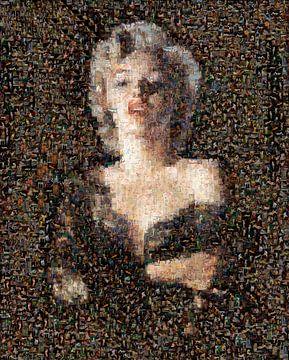 Marilyn Monroe als Pinup im Mosaik von Atelier Liesjes